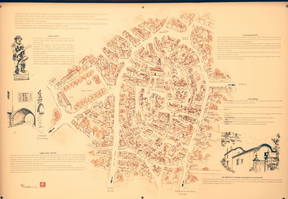 Plan Ancien De Saint Germain
