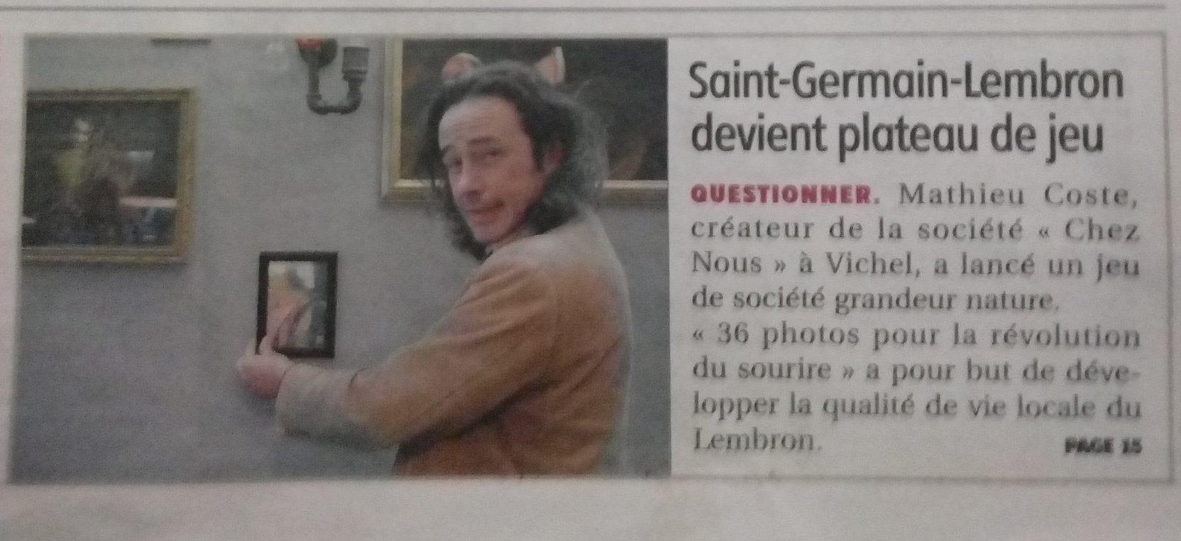 Lancement Le 11 à Saint Germain Lembron Annoncé Par La Montagne