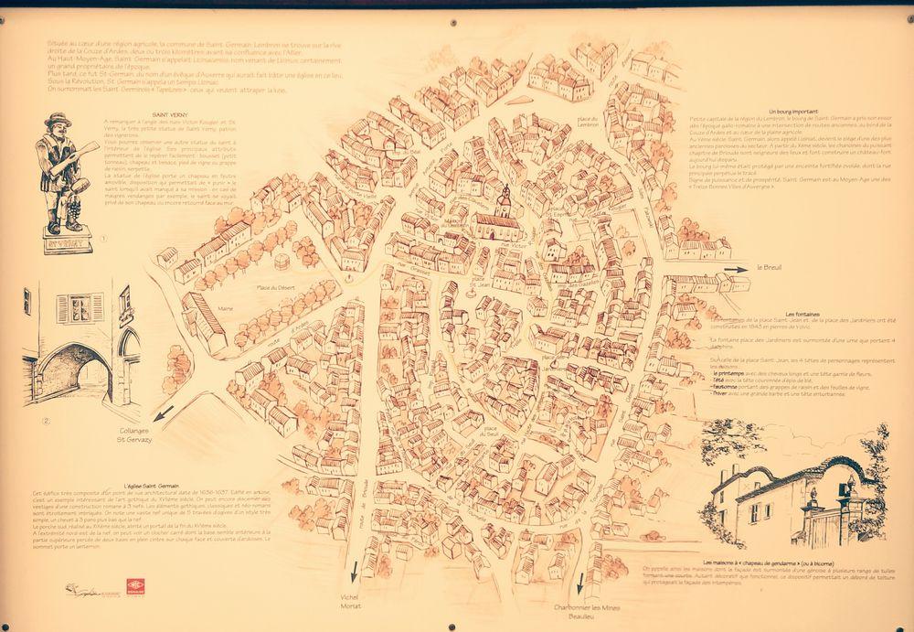 plan ancien de Saint Germain